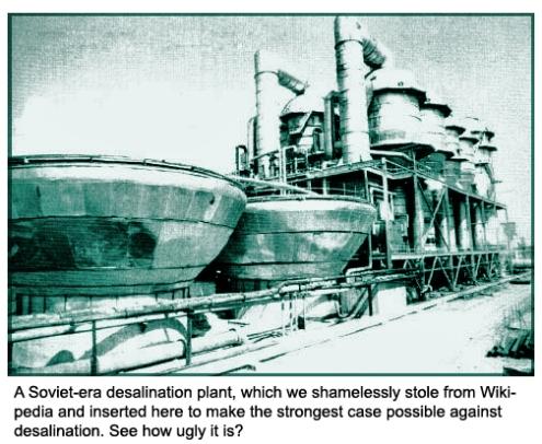 Soviet desalination plant