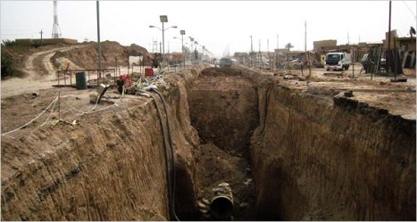 Ditch to Nowhere, Falluja, Iraq courtesy NY Times, 2008