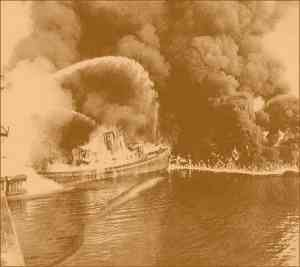 The 1969 fire on the Cuyahoga River that served as a catalyst for the passage of the Clean Water Act